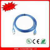 Прозрачный USB сини 2.0 мужчина к женскому кабелю USB