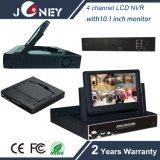 4 Kanal LCD aller in einem Monitor NVR mit 7 Zoll LCD-Monitor-Bildschirmanzeige