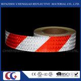빨강과 백색 PVC 줄무늬 주의 사려깊은 접착 테이프 (C3500-S)