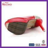 ローズカラーのぞき見のつま先の女性の靴