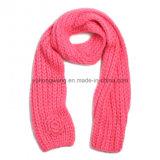 Scarves feitos malha acrílicos Handmade do Crochet da forma, lenço
