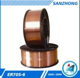 Precio material del alambre de soldadura del CO2 Er70s-6 hecho en China Jiangsu