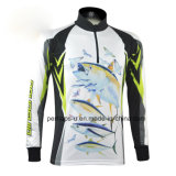 Sublimation Rapido-Drying Printing Fishing Jersey con Zipper Placket