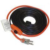 Facile d'installer l'UL, CSA, Ved, câble chauffant de conduite d'eau de Pawo de la CE 7W/FT avec la fiche des Etats-Unis