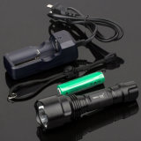 5 Modi Police Flashlight mit Li-Ion Battery