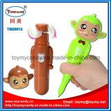 juguete Handheld del ventilador de la pluma de bola del 14cm Monekey con 3 colores
