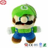 Bambola di pezza giocattolo eccellente di Luigi del carattere del gioco di Keychain della peluche di Mario