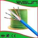 세륨, RoHS, ISO UTP 고체 또는 물가 구리 CAT6 근거리 통신망 케이블