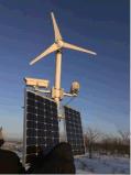 generador de turbina horizontal de viento del eje 3kw y sistema híbrido del panel solar