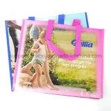Sac tissé par pp réutilisable de multicolores, sac d'emballage pour la promotion