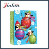 新しい光沢のある薄板にされた塗被紙のクリスマスのショッピングギフトの紙袋