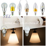 luz de la vela de 3W E14 220V LED para la lámpara
