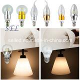 luz de la vela de 3W E14 SMD LED para la lámpara