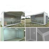 Дом контейнера цвета низкой стоимости панельного дома стальная Prefab