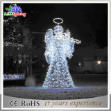 Luz decorativa do ângulo ao ar livre do Natal da rua do diodo emissor de luz do motivo 3D
