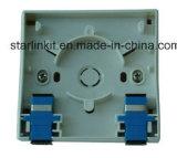 1 placa dianteira fixada na parede da fibra portuária para Sc LC FC