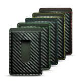 Владельца карточки PU новой картины волокна углерода конструкции способа кожаный