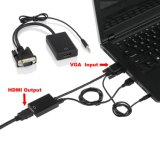 VGA Audio a HDMI Cable Adapter (FULL HD 1080P+Built-nella chipset)