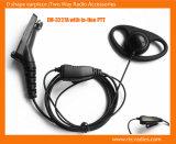 D Shape Earpiece mit Inline-Postverwaltung Mic für Mototrbo Dp3400/3600
