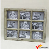 Vente en gros d'ameublement en diamant 9-Opening Window Collage en bois Photo Picture Frames