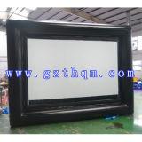 Im Freienbekanntmachenfilm-aufblasbarer Bildschirm
