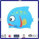 Casquillo de natación divertido y lindo promocional de Sillicone