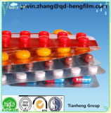 película farmacêutica rígida transparente e colorida de 0.05-0.80mm da embalagem do PVC