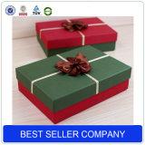 Rectángulos de regalo vacíos hechos a mano reciclados China decorativos impresos de encargo al por mayor de la Navidad con el arqueamiento de la cinta