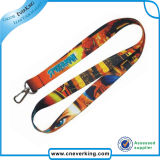 La Cina Gold Supplier Heat Transfer Polyester Lanyard con Metal Hook
