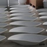 Vanità di pietra bianca di superficie solida e dispersore della stanza da bagno di Staron
