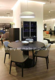 ヨーロッパ式の食堂の家具の円形の木表(E-33)