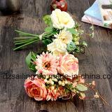 Flor de Artificail del ramo de la combinación del Gerbera y de Rose (SF15471)
