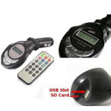 USB y SD Card del soporte con Screen Wireless FM Transmitter