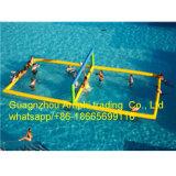 Populärer Team-Spiel-Sport spielt Wasser-aufblasbares Volleyball-Gericht