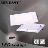 comitato chiaro Nano quadrato di 18W LED con l'indicatore luminoso di comitato di Ce&RoHS LED