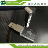 Movimentação por atacado do flash do USB/Thumbdrive de cristal /USB moderno com logotipo do diodo emissor de luz