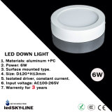 External Driver를 가진 Warrenty 3 년 6W Surface Mounted LED Down Light