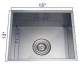 Roestvrij staal NS-1501 de Met de hand gemaakte Enige Gootsteen van de Kom