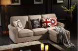 Furniture de vida Fabric Sofa con Ottoman para Sofa Set