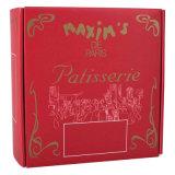 赤い背景文書のギフト用の箱の印刷