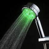 Cabeça de chuveiro sanitária do punho dos mercadorias do banheiro de China com diodo emissor de luz