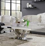 금속 커피용 탁자를 가진 고품질 대리석 테이블