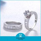 도매 925 순은 보석 결혼 반지 (R-0132)