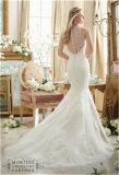 Robe de mariage perlée de Chaud-Vente neuve de la mariée 2016, personnalisée