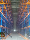 Métal élevé de densité de mémoire d'entrepôt par le défilement ligne par ligne/étagère de palette de drive-in d'étagère