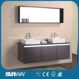 流し(SW-1500B)が付いている新しい光沢の絵画MDFの浴室用キャビネット