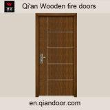 Porta antincendio di legno dell'impiallacciatura di Zebrano