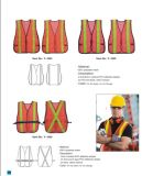 Protección de seguridad que completa un ciclo el chaleco reflexivo de la seguridad del alto amarillo de la visibilidad En20471
