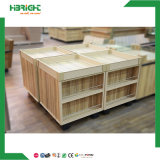 Large Capability Tipo de Combinación Fruit Vegetable Wooden Display Rack