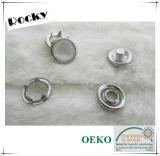 Botón redondo respetuoso del medio ambiente del broche de presión de la pera del diente del metal para los cabritos